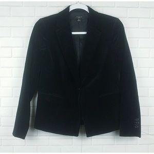 Ann Taylor Velvet Blazer Size 4P